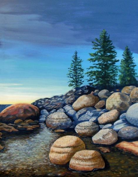 Lake Tahoe TumbleAcrylicJanetGlatz (2)